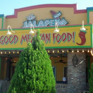 Front facade of The Jalapeno Tree mexican restaurant in Denison