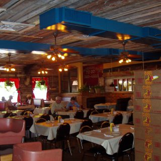 Dining tables from the Jalapeno Tree mexican restaurant in Jacksonville, Texas
