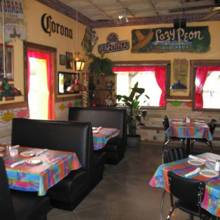 Interior design of The Jalapeno Tree mexican restaurant in Denison