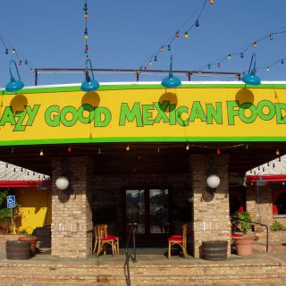 Entrance to the Jalapeno Tree mexican restaurant in Jacksonville, Texas