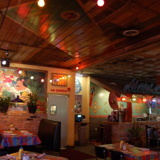 Main area of The Jalapeno Tree mexican restaurant in Denison