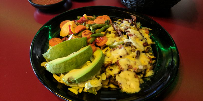 Meat with queso, avocado and vegetables aside to order in Tyler Texas