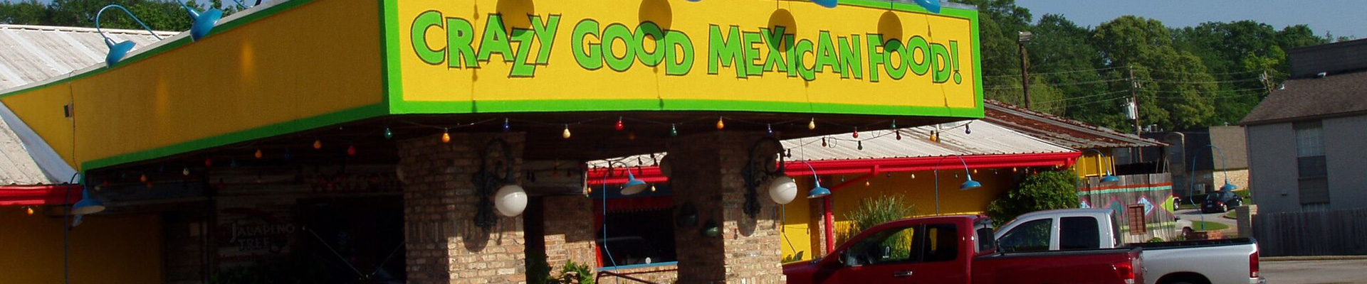 Commercial at the entrance from The Jalapeno Tree mexican restaurant in Jacksonville, Texas