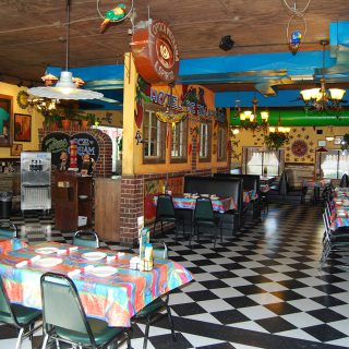 Interior details in Jalapeno Tree Mexican restaurant in Gun Barrel City