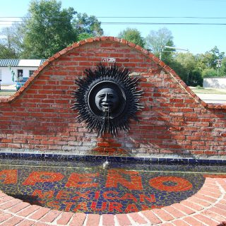 Fountain from Jalapeno Tree Mexican restaurant in Carthage