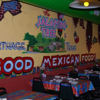 Interior details from Jalapeno Tree Mexican restaurant in Carthage