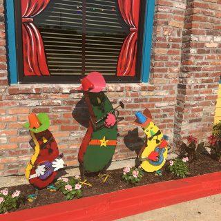 Little garden of Jalapeno Tree restaurant at Mount Pleasant