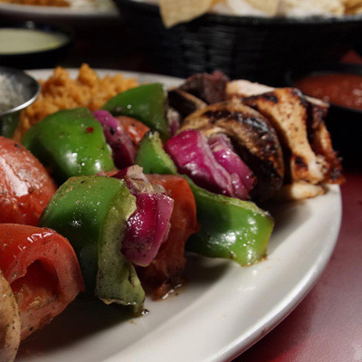 Grilled vegetables and meat from Jalapeno Tree mexican restaurant