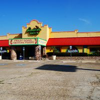 Exterior of the Jalapeno Tree Mexican restaurant in Gun Barrel City, Texas
