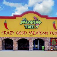 Facade of the Mexican restaurant Jalapeno Tree in Mt Pleasant