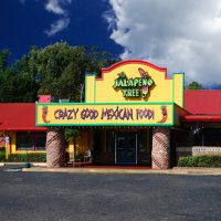 Exterior look of the Jalapeno Tree Mexican restaurant in Tyler TX