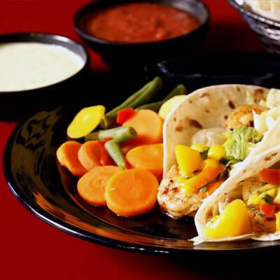 We offer different type of tacos- fish taco, carne guisada tacos, shrimp tacos and more